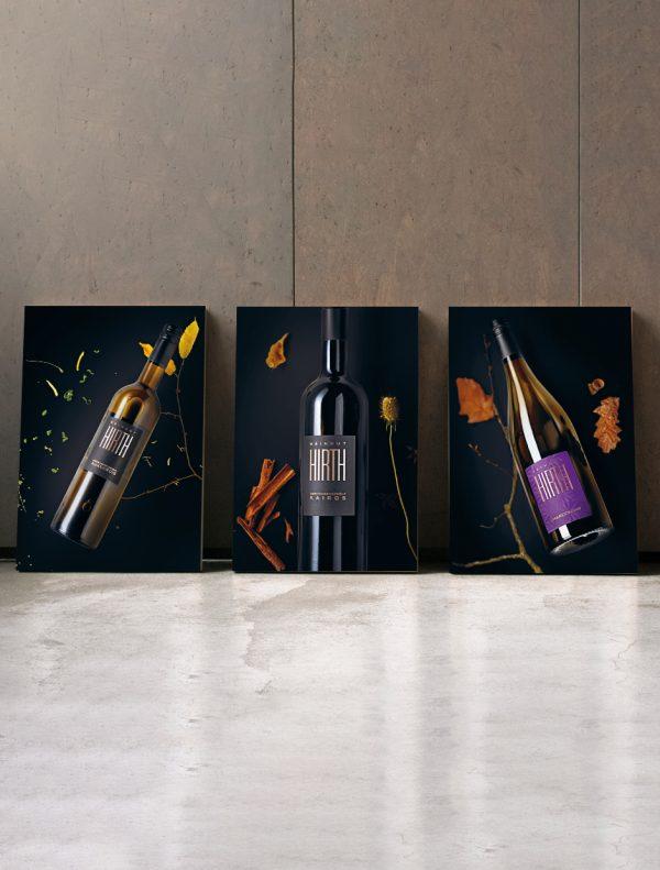 Weinposter Auxerrois, Kairos und Chardonnay
