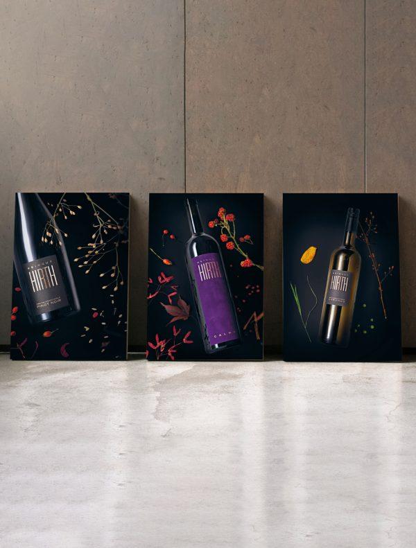 Weinposter Pinot Noir, Palma und Chronos