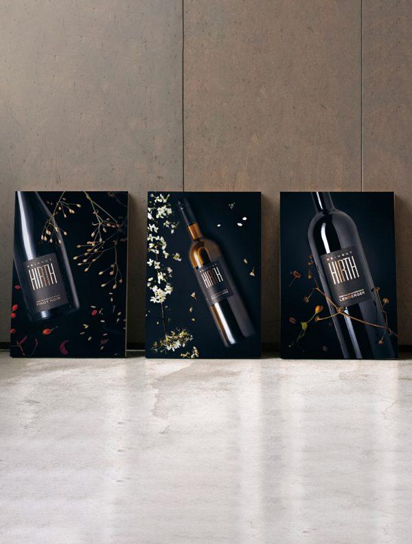 Weinposter Pinot Noir, Sauvetage und Lemberger