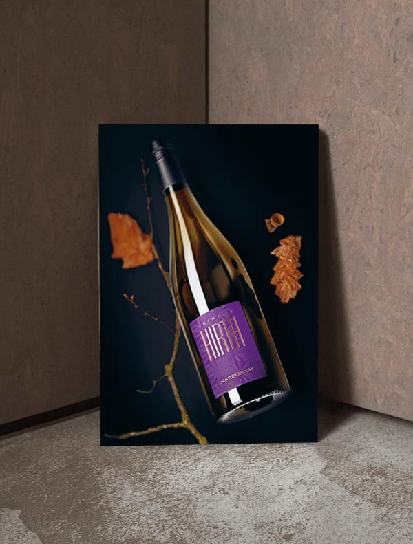 Chardonnay Weinposter