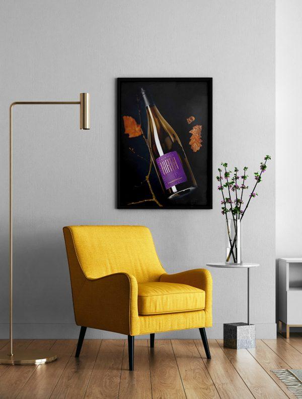Chardonnay Weinposter im Wohnzimmer