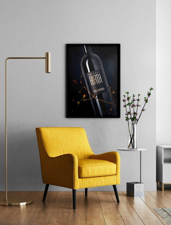 Lemberg Weinposter im Wohnzimmer